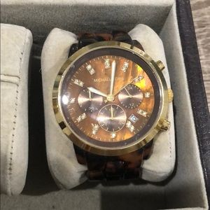 Michael Kora tortoise shell watch